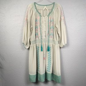 Kristin Miles Sheer Embroidered Dress Size 2X